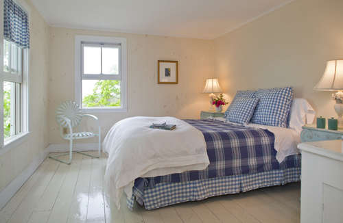 BlueGinghamBedroom at Thimble Island House
