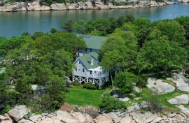 Aerial View Thimble Island House