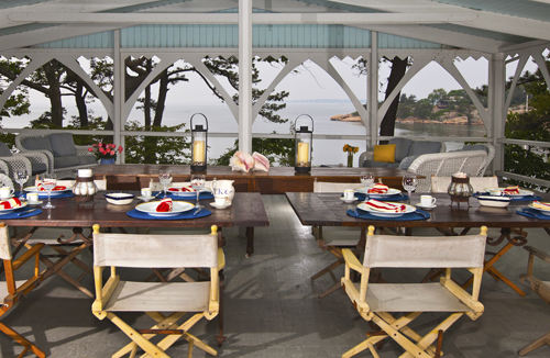 Thimble Island House Porch