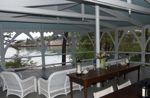 Victorian Porch at Thimble Island House