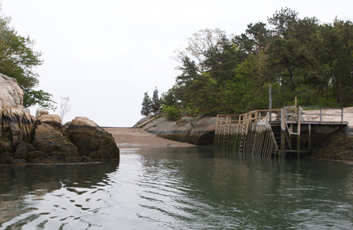 Dock and Beach at Thimble Island House