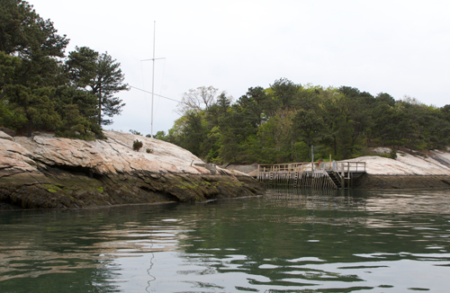 Dock Approach at Thimble Island House