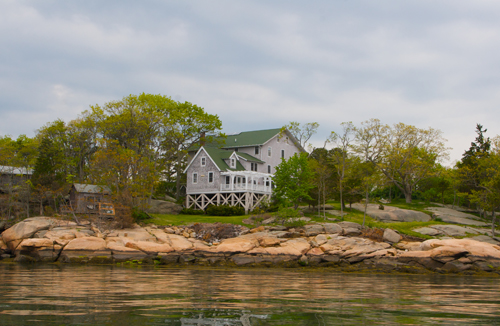 Thimble Island House viewed from the sea